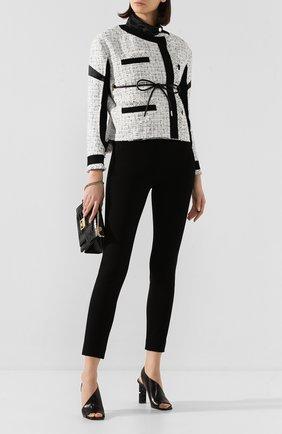 Женские кожаные босоножки super heel SERGIO ROSSI черного цвета, арт. A89950-MAGN05 | Фото 2