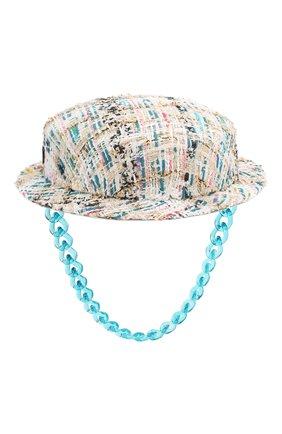 Женская шляпа light tweed MAISON MICHEL светло-голубого цвета, арт. 1007001001/LIGHT TWEED | Фото 2