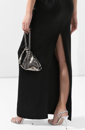 Женский сумка callie JIMMY CHOO серебряного цвета, арт. CALLIE/VJU | Фото 2