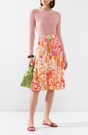 Женские текстильные сандалии ryder  ALEXANDER WANG фуксия цвета, арт. 30C120B059   Фото 2