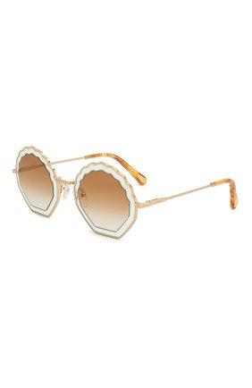 Женские солнцезащитные очки CHLOÉ коричневого цвета, арт. 147S-834   Фото 1