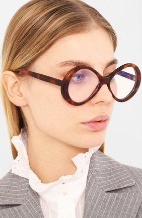 Женские солнцезащитные очки CHLOÉ коричневого цвета, арт. 2743-218 | Фото 2