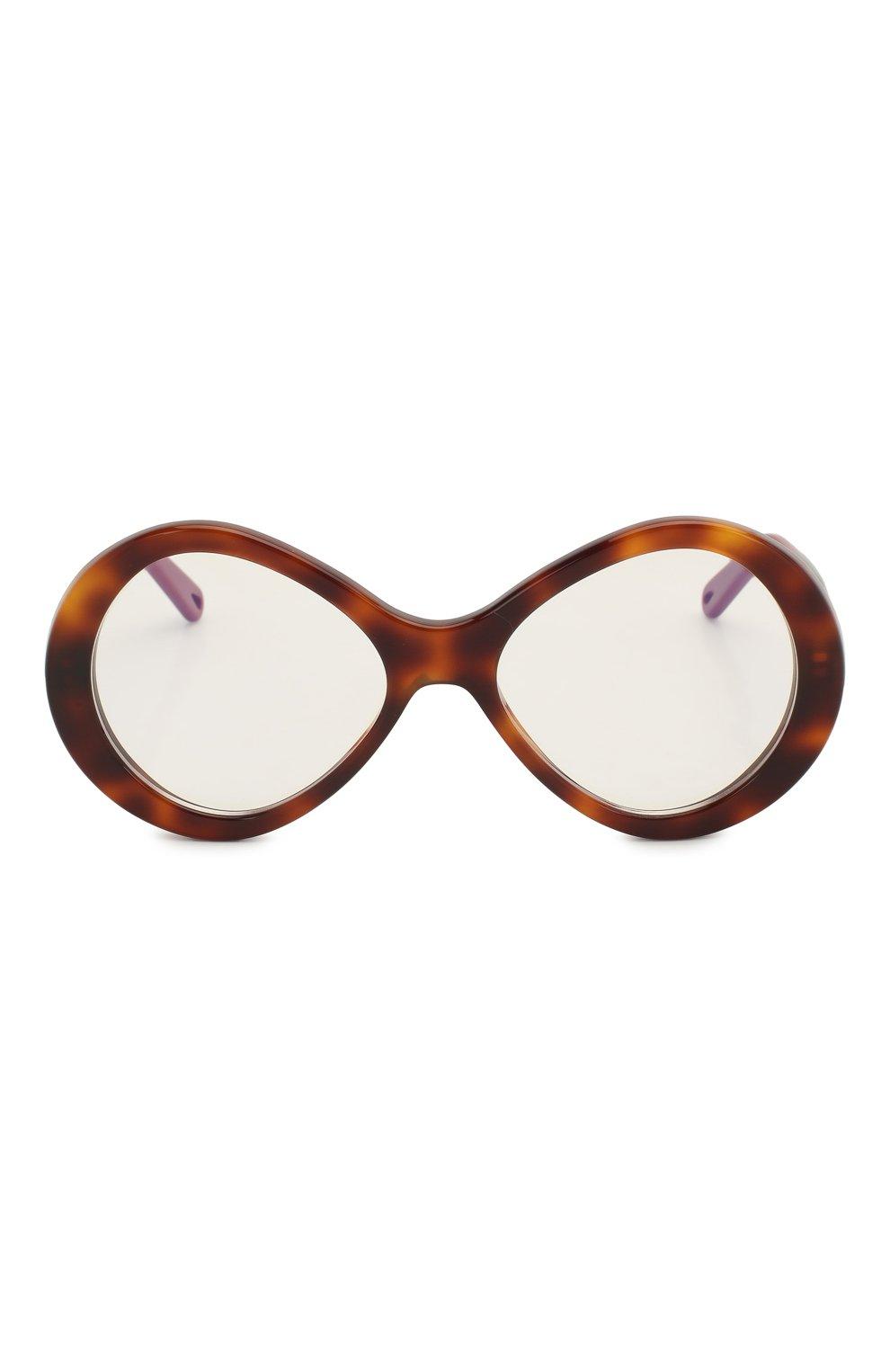 Женские солнцезащитные очки CHLOÉ коричневого цвета, арт. 2743-218 | Фото 3