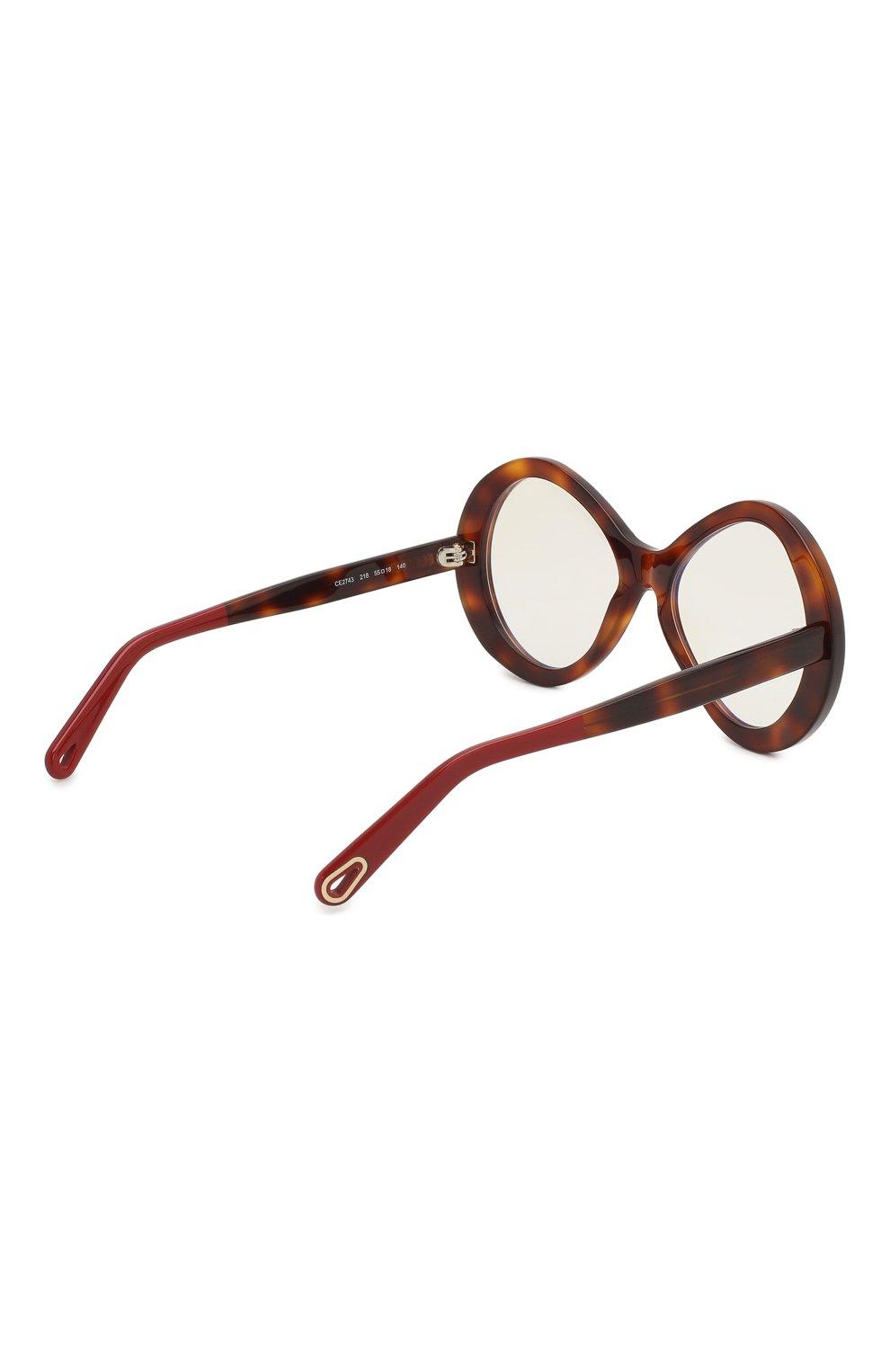 Женские солнцезащитные очки CHLOÉ коричневого цвета, арт. 2743-218 | Фото 4