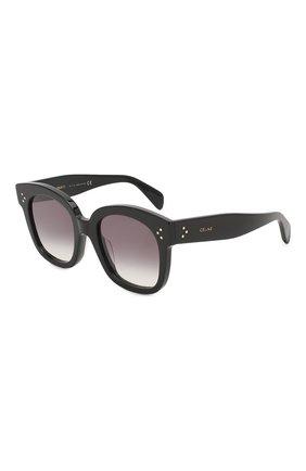 Женские солнцезащитные очки CELINE EYEWEAR черного цвета, арт. CL4002UN 01B | Фото 1