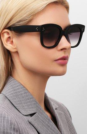 Женские солнцезащитные очки CELINE EYEWEAR черного цвета, арт. CL4002UN 01B | Фото 2