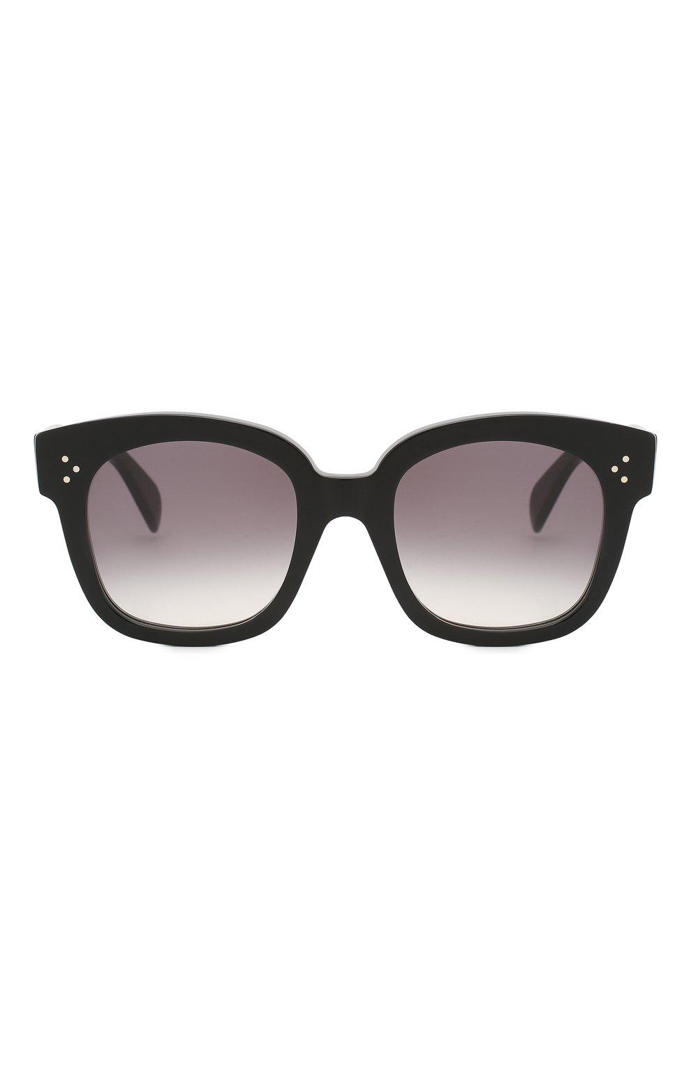 Женские солнцезащитные очки CELINE EYEWEAR черного цвета, арт. CL4002UN 01B | Фото 3