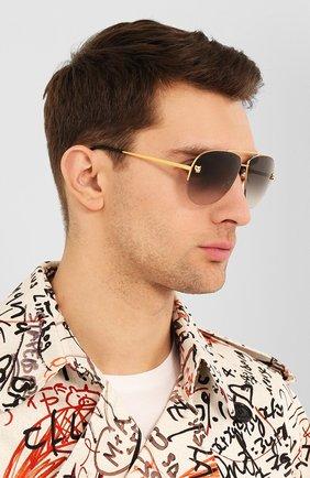 Женские солнцезащитные очки CARTIER золотого цвета, арт. CT0065 008   Фото 3