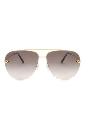 Женские солнцезащитные очки CARTIER золотого цвета, арт. CT0065 008   Фото 4