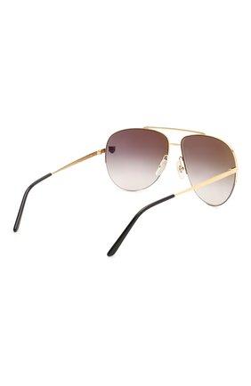 Женские солнцезащитные очки CARTIER золотого цвета, арт. CT0065 008   Фото 5