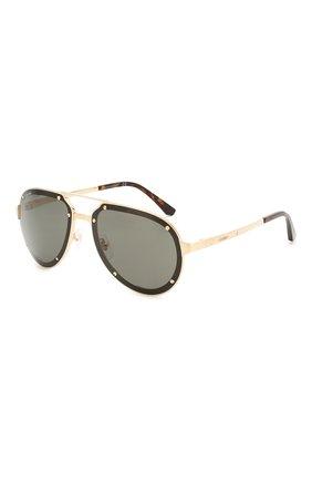 Мужские солнцезащитные очки CARTIER черного цвета, арт. CT0195 002 | Фото 1