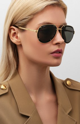 Мужские солнцезащитные очки CARTIER черного цвета, арт. CT0195 002 | Фото 2