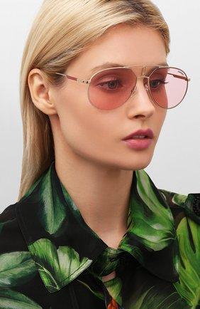 Мужские солнцезащитные очки CARRERA розового цвета, арт. CARRERA 1025 EYR   Фото 2