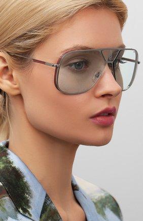 Женские солнцезащитные очки CARRERA голубого цвета, арт. CARRERA LENS3 V84 | Фото 2
