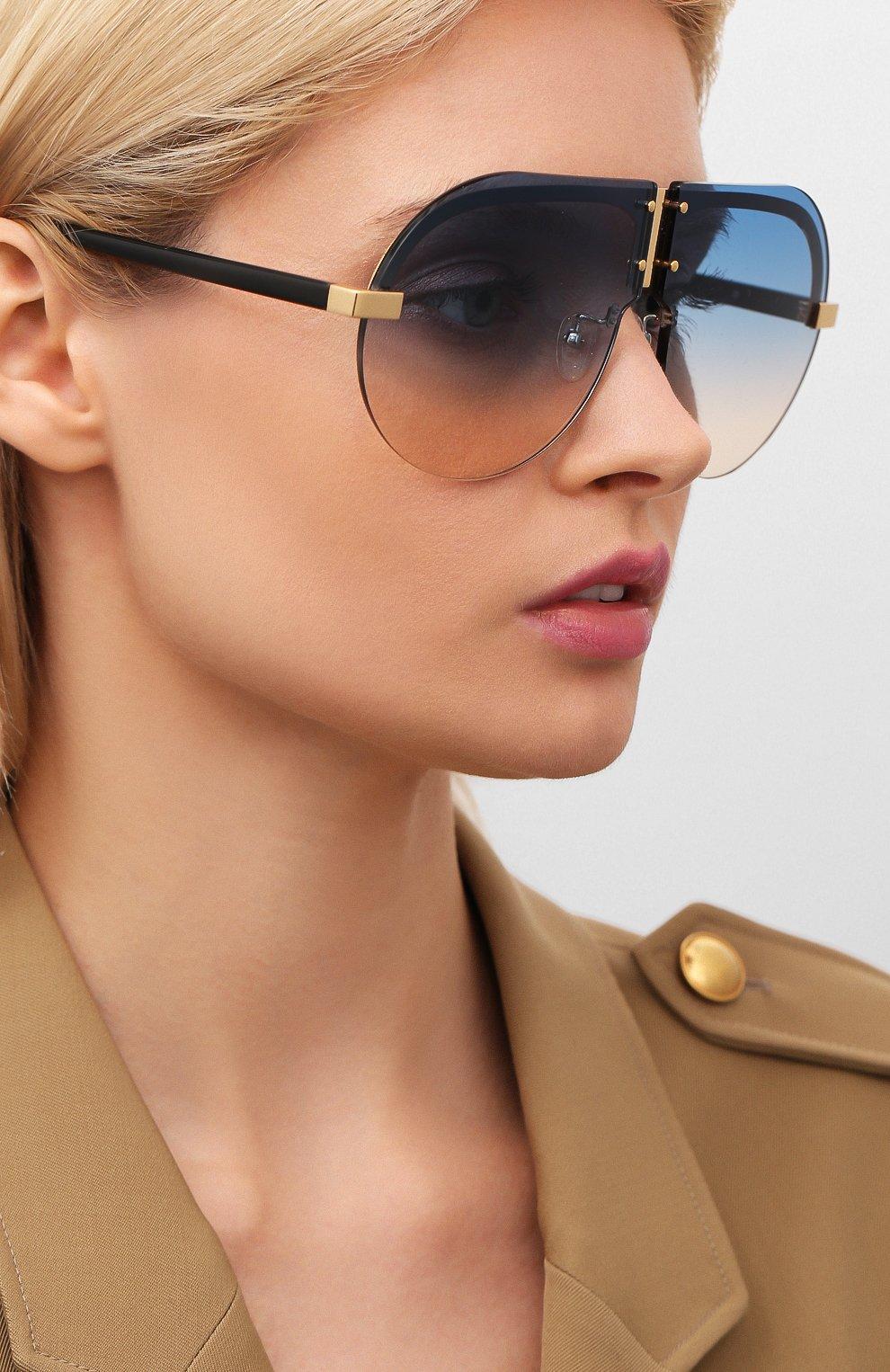 Женские солнцезащитные очки MATTHEW WILLIAMSON голубого цвета, арт. MW252C3 SUN | Фото 2