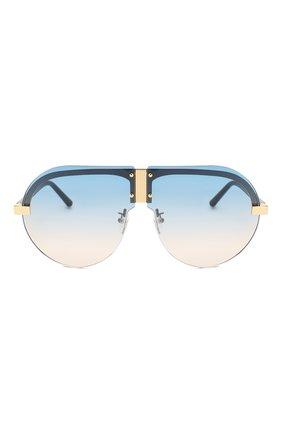 Женские солнцезащитные очки MATTHEW WILLIAMSON голубого цвета, арт. MW252C3 SUN | Фото 3
