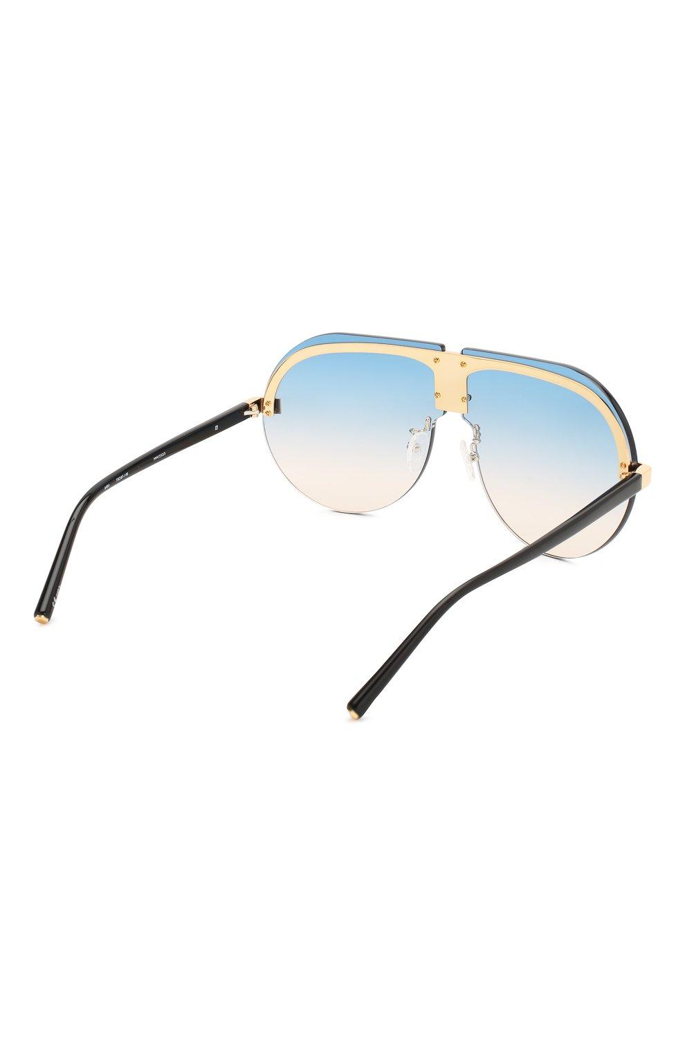 Женские солнцезащитные очки MATTHEW WILLIAMSON голубого цвета, арт. MW252C3 SUN | Фото 4