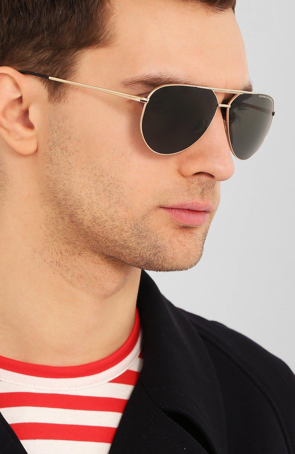 Мужские солнцезащитные очки PORSCHE DESIGN коричневого цвета, арт. 8688-B | Фото 2