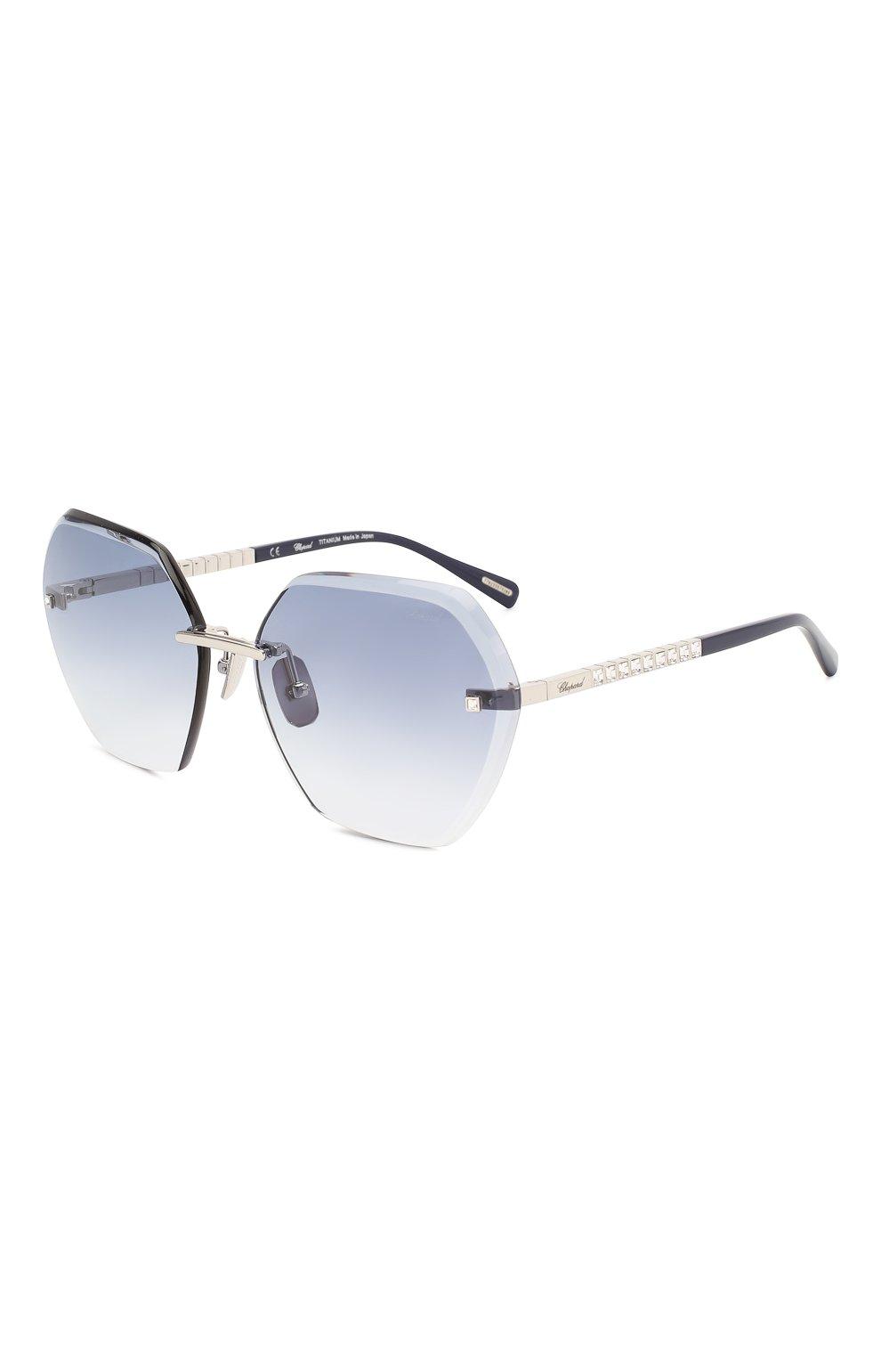 Женские солнцезащитные очки CHOPARD синего цвета, арт. D42S 579 | Фото 1
