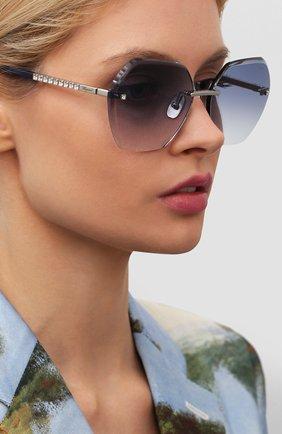 Женские солнцезащитные очки CHOPARD синего цвета, арт. D42S 579 | Фото 2