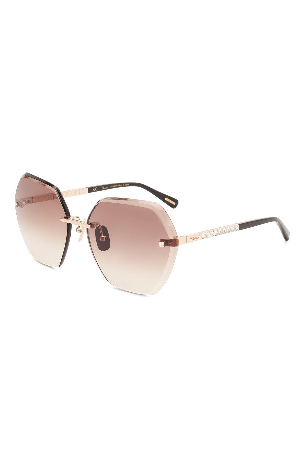 Женские солнцезащитные очки CHOPARD коричневого цвета, арт. D42S 8FC | Фото 1