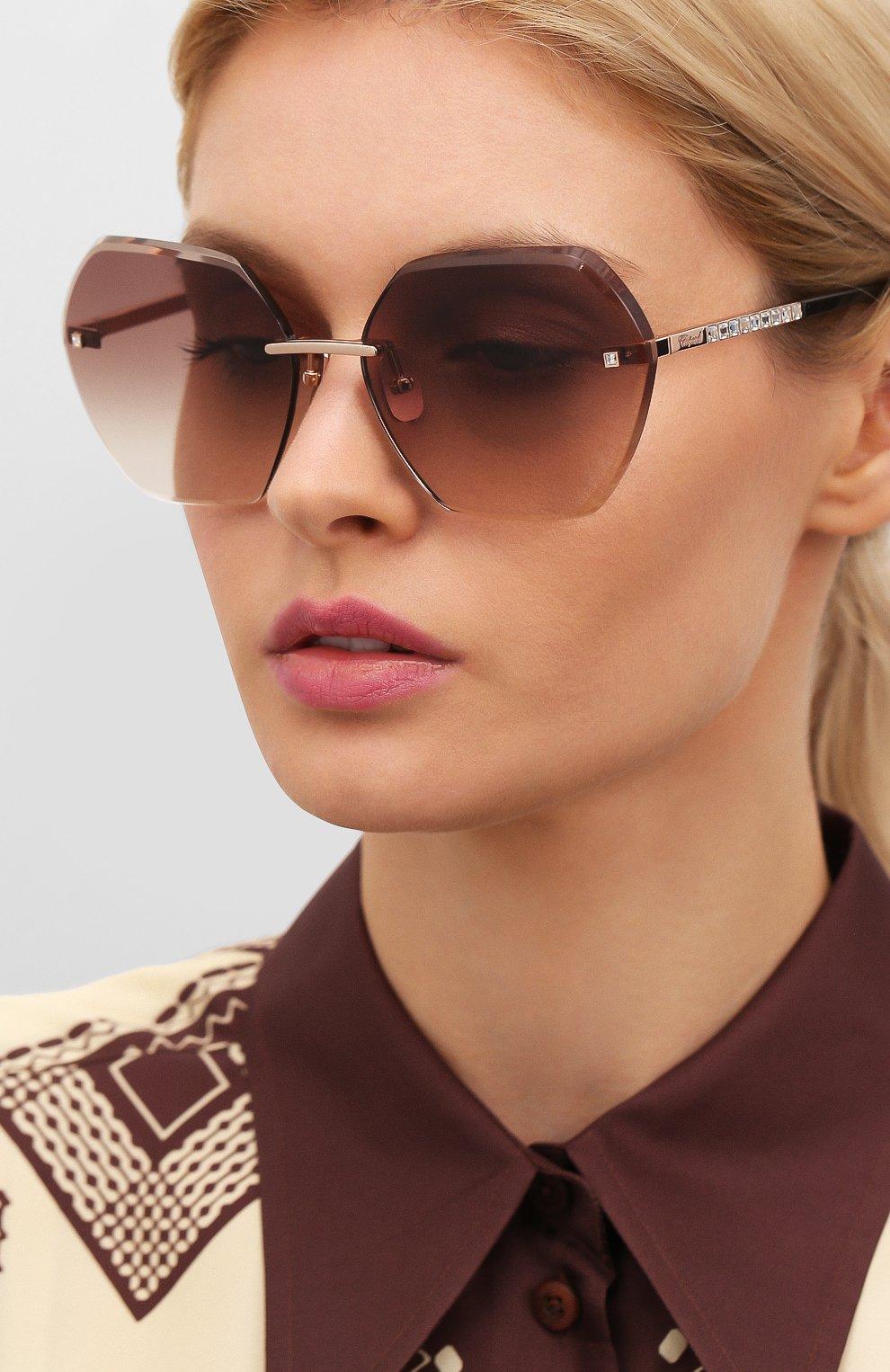 Женские солнцезащитные очки CHOPARD коричневого цвета, арт. D42S 8FC | Фото 2