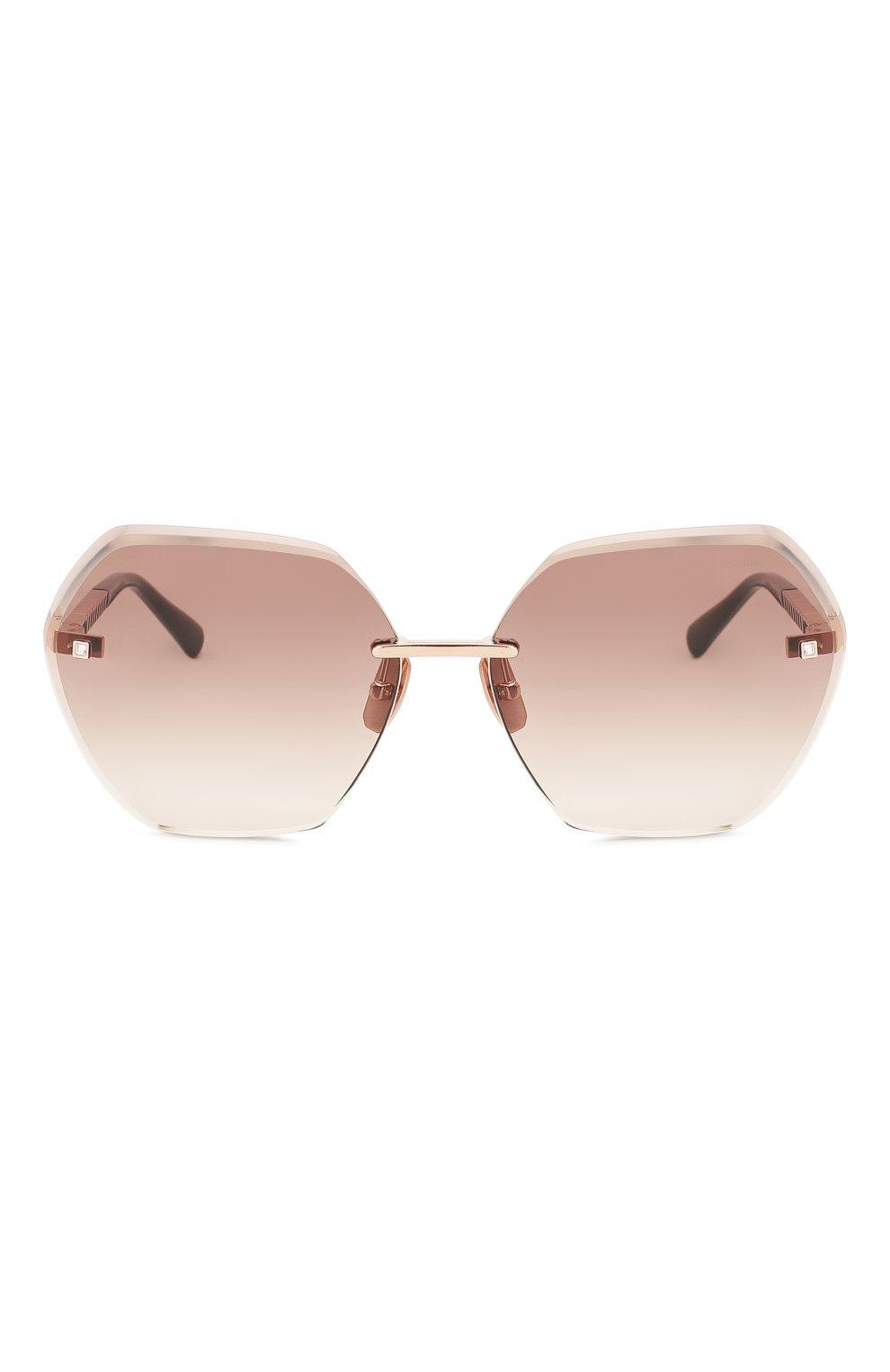 Женские солнцезащитные очки CHOPARD коричневого цвета, арт. D42S 8FC | Фото 3