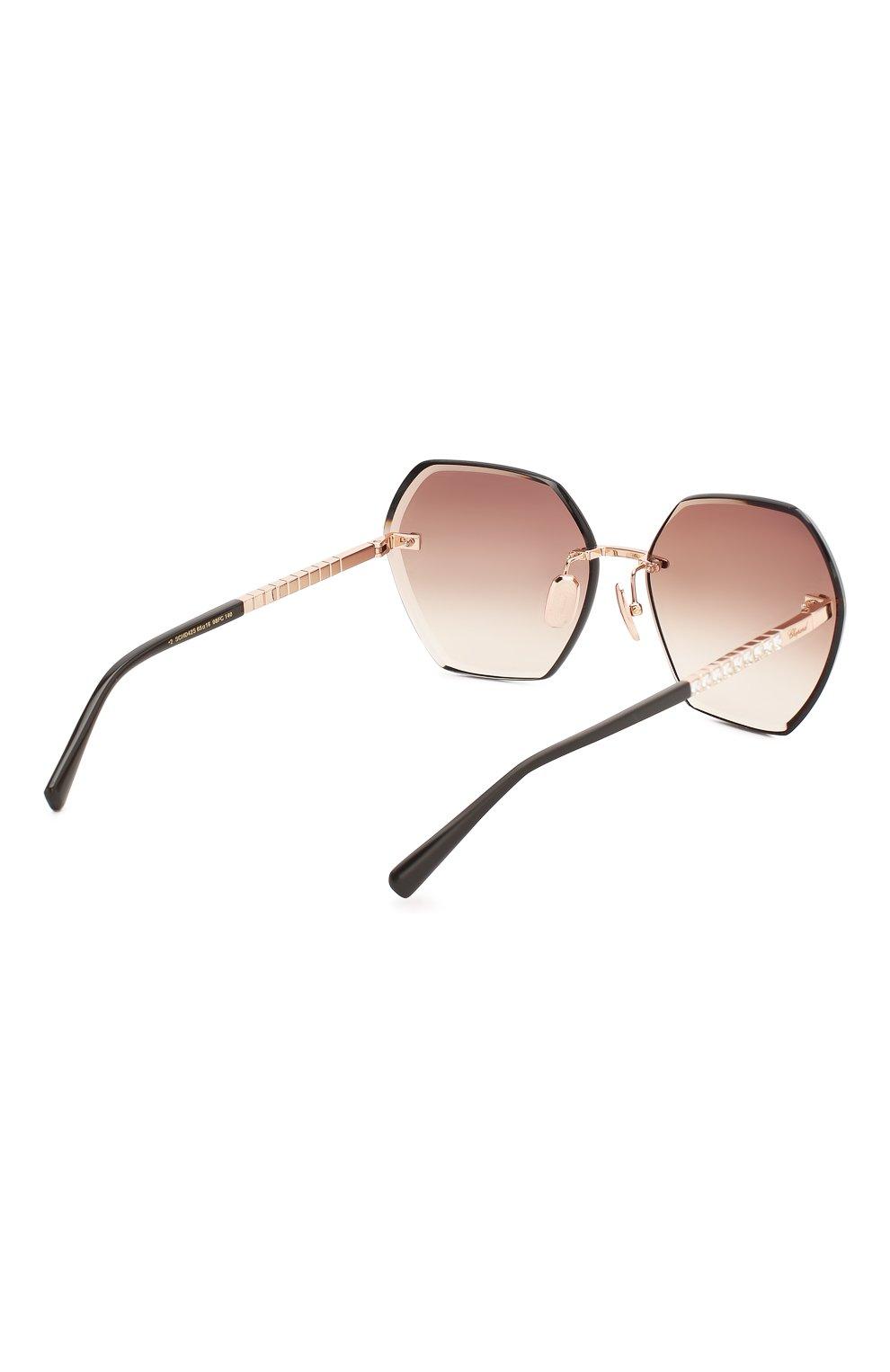 Женские солнцезащитные очки CHOPARD коричневого цвета, арт. D42S 8FC | Фото 4