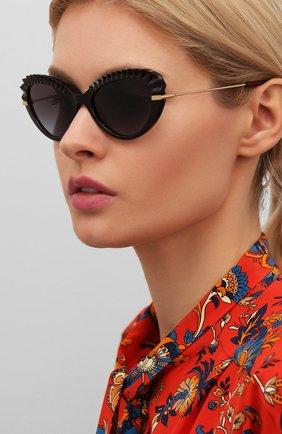 Мужские солнцезащитные очки DOLCE & GABBANA коричневого цвета, арт. 6133-550/8G | Фото 2
