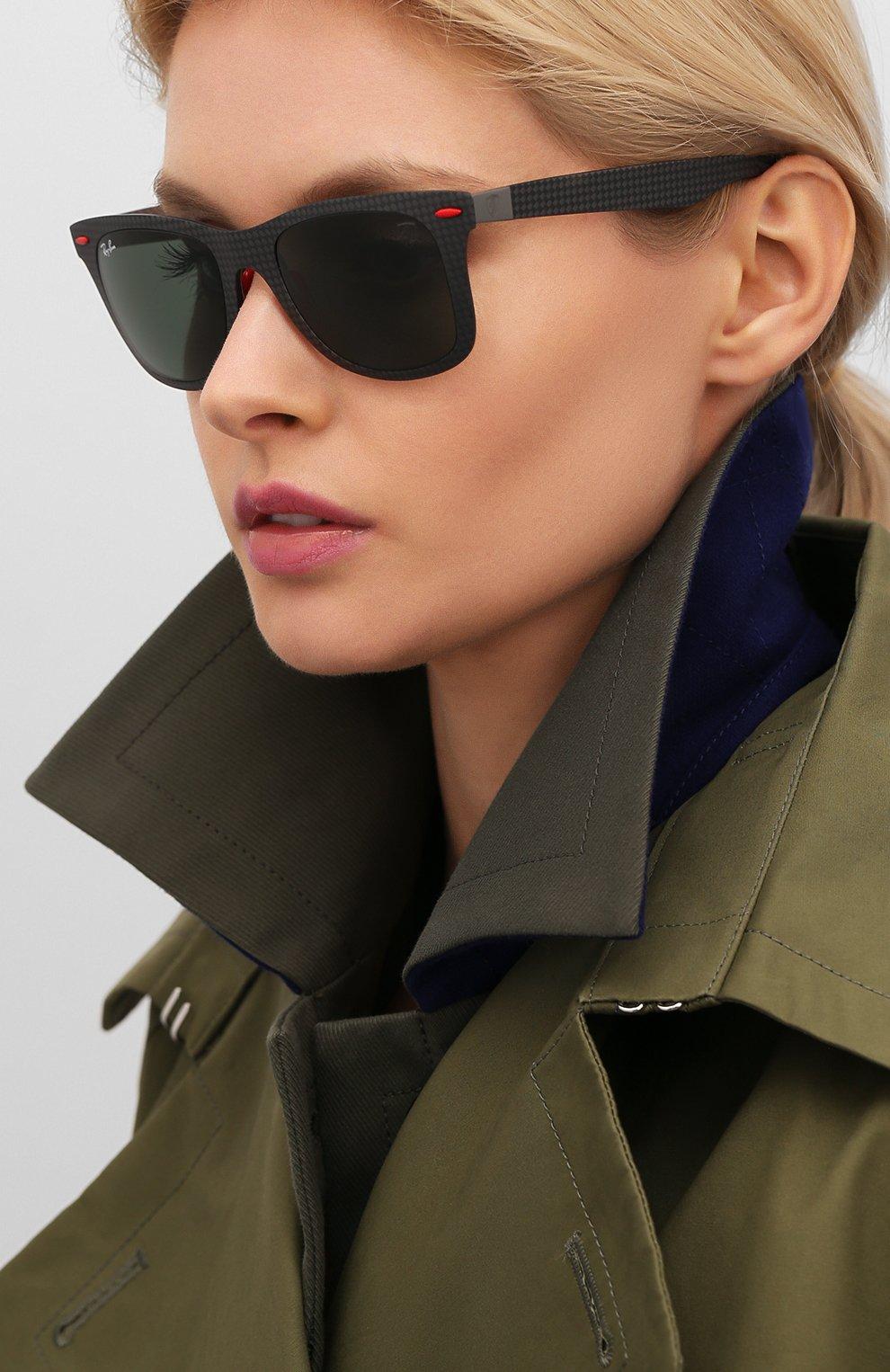 Женские солнцезащитные очки RAY-BAN черного цвета, арт. 8395M-F05471 | Фото 2