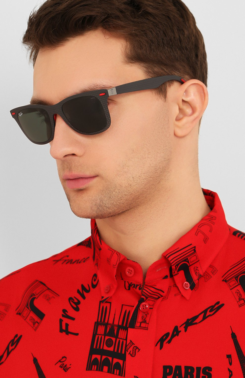 Женские солнцезащитные очки RAY-BAN черного цвета, арт. 8395M-F05471 | Фото 3