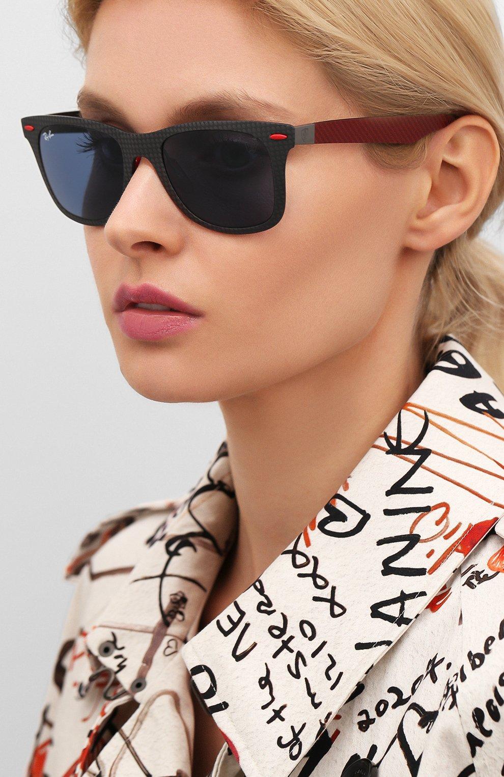 Женские солнцезащитные очки RAY-BAN красного цвета, арт. 8395M-F05580 | Фото 2