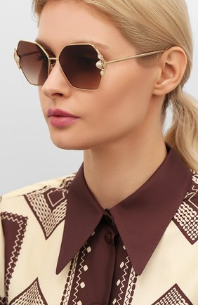Мужские солнцезащитные очки DOLCE & GABBANA золотого цвета, арт. 2253H-02/13 | Фото 2