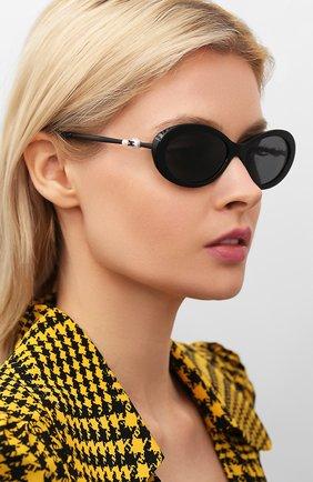 Мужские солнцезащитные очки CHANEL черного цвета, арт. 5428H-C501S4   Фото 2