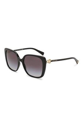 Женские солнцезащитные очки BVLGARI черного цвета, арт. 8225B-501/8G | Фото 1