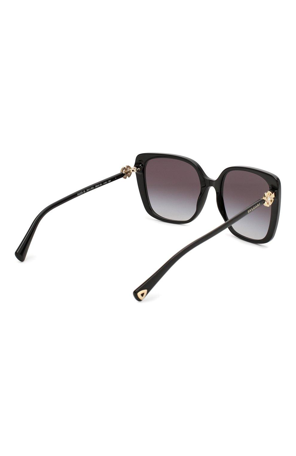 Женские солнцезащитные очки BVLGARI черного цвета, арт. 8225B-501/8G | Фото 4