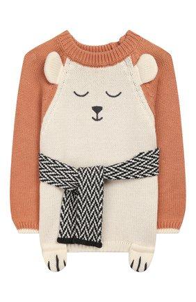 Детский пуловер APERO коричневого цвета, арт. AS533_2TE | Фото 1