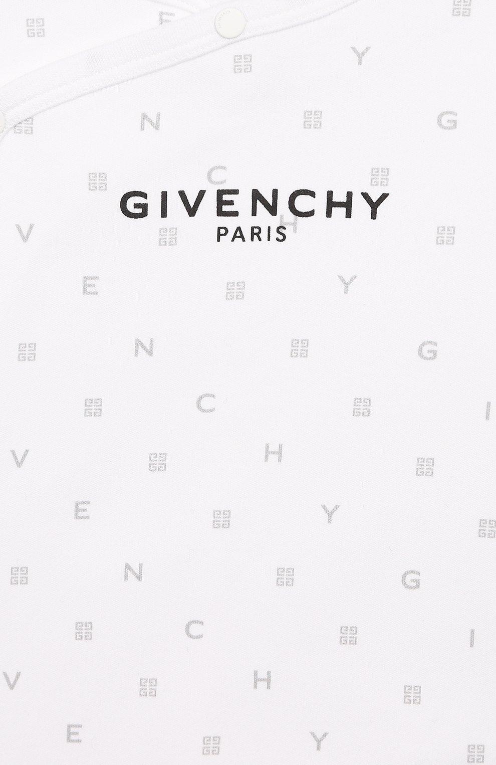 Детский комплект из 3-х предметов GIVENCHY белого цвета, арт. H98075 | Фото 8