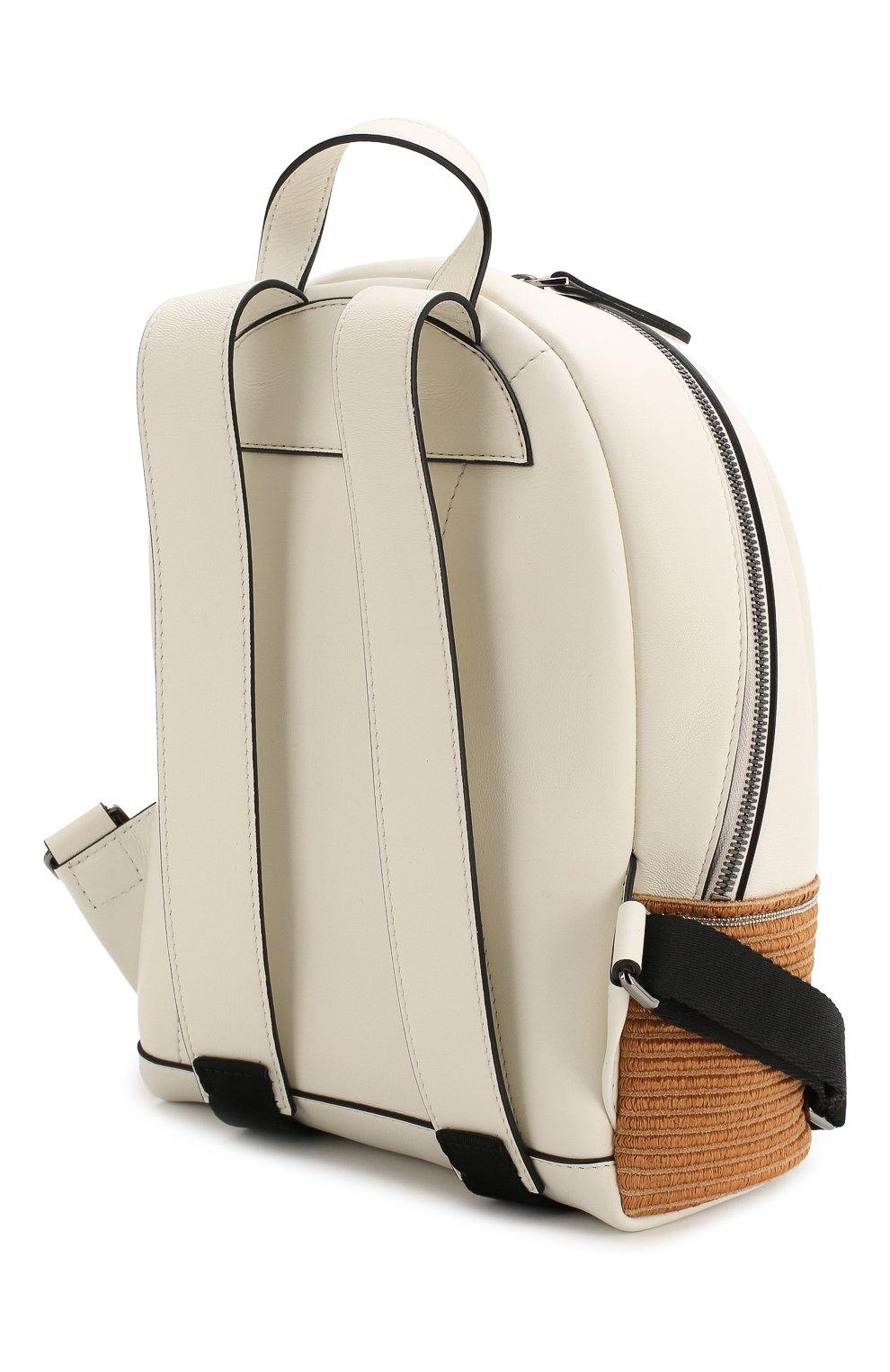 Детская кожаный рюкзак BRUNELLO CUCINELLI белого цвета, арт. BZPAMB001 | Фото 2