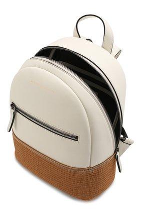 Детская кожаный рюкзак BRUNELLO CUCINELLI белого цвета, арт. BZPAMB001 | Фото 3