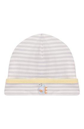 Детского хлопковая шапка KISSY KISSY серого цвета, арт. KN504171N | Фото 1