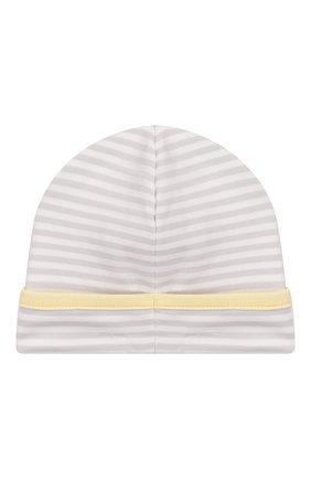 Детского хлопковая шапка KISSY KISSY серого цвета, арт. KN504171N | Фото 2
