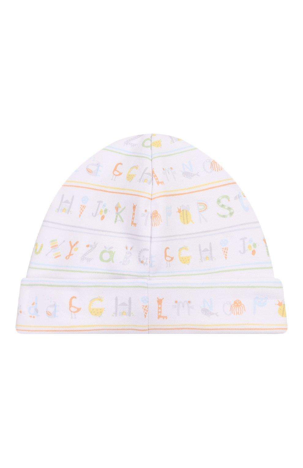 Детского хлопковая шапка KISSY KISSY разноцветного цвета, арт. KN504170N   Фото 2