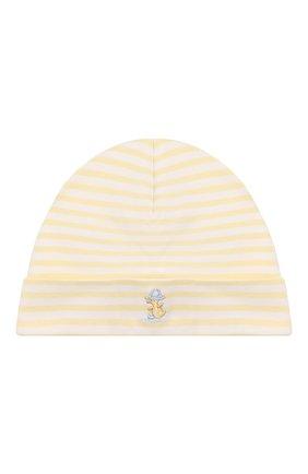 Детского хлопковая шапка KISSY KISSY желтого цвета, арт. KN503466N | Фото 1