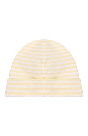 Детского хлопковая шапка KISSY KISSY желтого цвета, арт. KN503466N | Фото 2