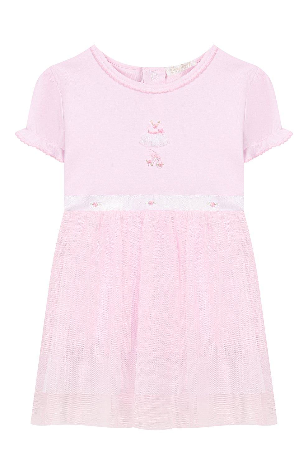 Женский хлопковое платье KISSY KISSY розового цвета, арт. KGU04454N   Фото 1