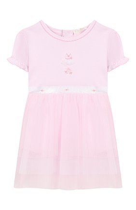 Женский хлопковое платье KISSY KISSY розового цвета, арт. KGU04454N | Фото 1
