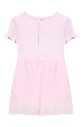 Женский хлопковое платье KISSY KISSY розового цвета, арт. KGU04454N | Фото 2