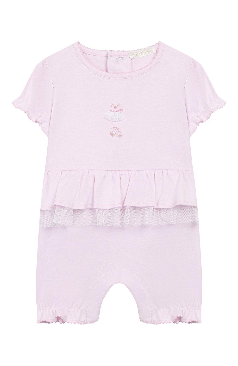 Детское хлопковый комбинезон KISSY KISSY розового цвета, арт. KGR04455N | Фото 1