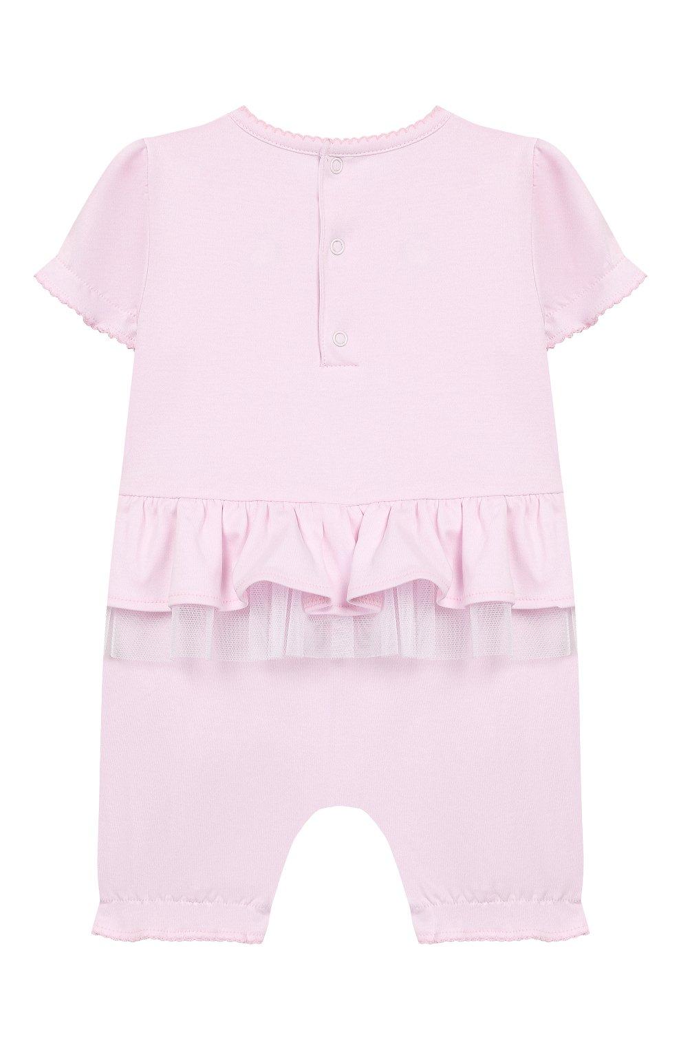 Детское хлопковый комбинезон KISSY KISSY розового цвета, арт. KGR04455N | Фото 2